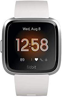 Añadiendo al carrito...Añadido a la cestaNo añadidoNo añadidoFitbit Versa Lite - Reloj Deportivo Smartwatch, Adultos Unisex, Blanco/Plata Aluminio, Talla única