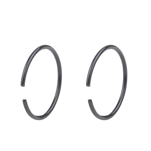 20G Non Pierced Stainless Steel Clip on Closure Round Ring Fake Nose Lip Helix Cartilage Tragus Ear Hoop 8mm