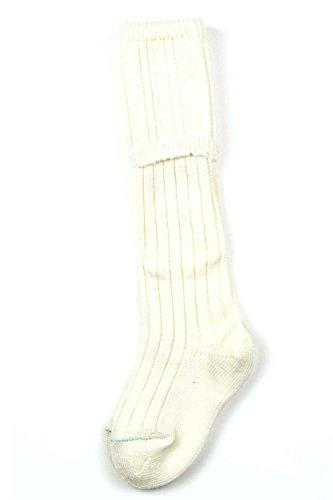 Boys Standard Kilt Hose Socks (Cream, Medium)