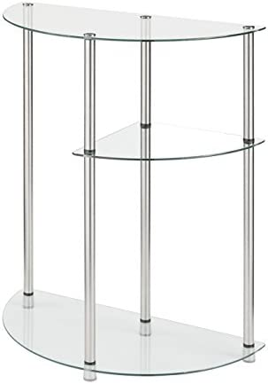 Convenience Concepts Designs2Go Classic Glass 3 Tier Display Entryway Table