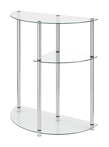 Convenience Concepts Designs2Go 3-Tier Glass Display Entryway Table, Glass