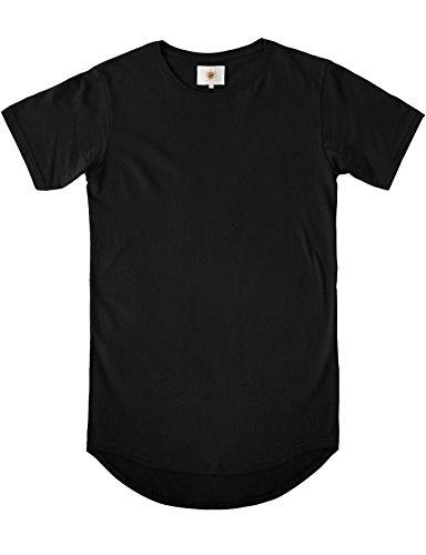 KS Mens Basic Hipster T Shirt (2X-Large, 19_Black)