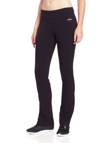 Spalding Women's Slim Fit Pant, Black, Large (Best Bootlegs Of All Time)