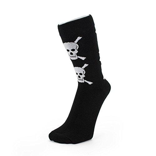 Black With White Skulls Ankle Socks (Size: 4-6)