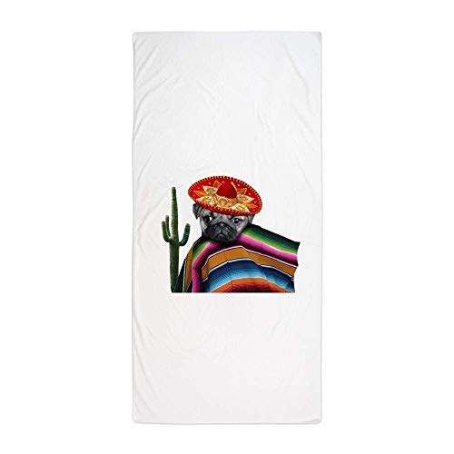 Mexican Pug DogLarge Beach Towel, Soft 31''x51'' Towel with Unique Design by Dongxu