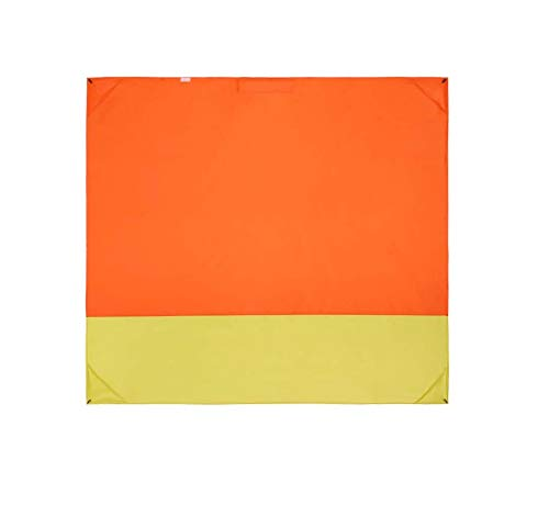 (FAFAIR Multifunctional Outdoor Stadium Windproof Picnic Blanket - Hooded Coat Design, with Storage Bag & 4 Stakes (Orange&Yellow))