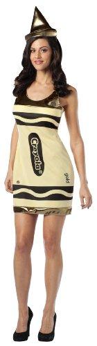 Crayola Dress Adult Costume Color: Gold ()