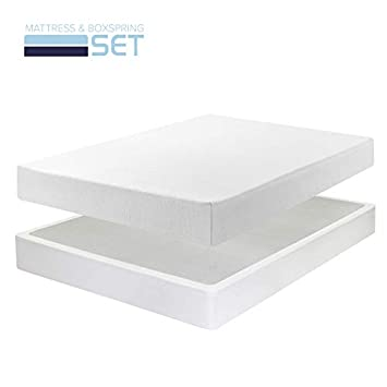 Best Price Mattress 8 Memory Foam Mattress New Innovative Box Spring Set, King, White