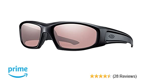 e3b7901744 Amazon.com   Smith Optics Hudson Tactical Sunglass with Black Frame (Clear  Lens)   Airsoft Goggles   Sports   Outdoors