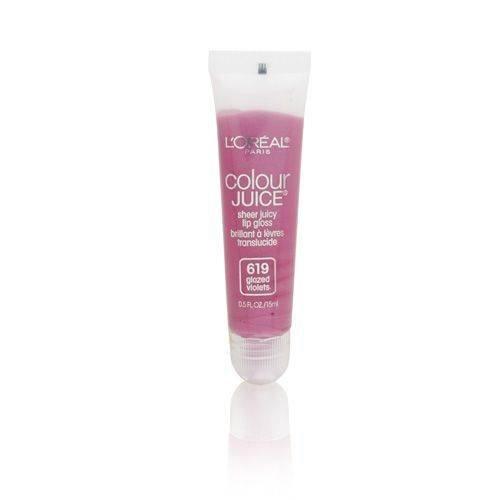 Loreal Colour Juice - L'Oreal Colour Juice Sheer Juicy Lip Gloss 619 Glazed Violets