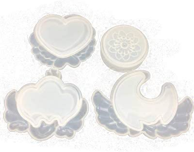 Yalulu 4pcs Storage Box DIY Silicone Mold Jewelry Resin Jewellery Box Casting Mould for DIY Craft Making