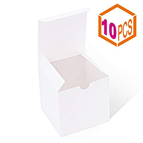 - Mesha Gift Boxes 4x4x4 Inches,Kraft Paper Gift Boxes with Lids for Gifts,Crafting,Cupcake,Cardboard Boxes,Bridesmaid Proposal Boxes,Wedding Favor Boxes,Gift Ornaments,Easy Assemble Boxes, (10)