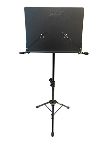Audio2000'S AST4384B Premium Heavy-Duty Sheet Music Stand with Adjustable Height, Black