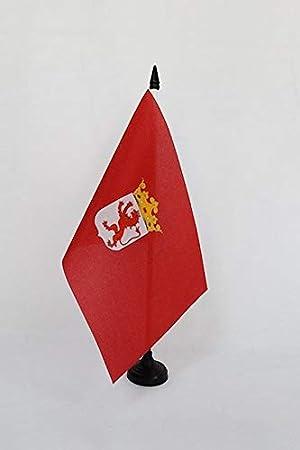 AZ FLAG Bandera de Mesa de la Provincia DE LEÓN 21x14cm - BANDERINA de DESPACHO LEÓN EN Castilla Y LEÓN 14 x 21 cm: Amazon.es: Jardín