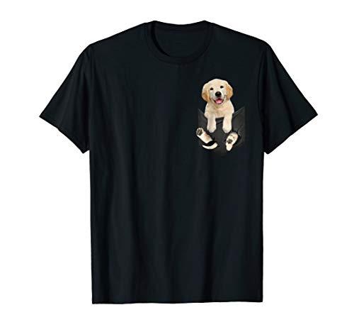 Golden Retriever inside pocket tee shirts