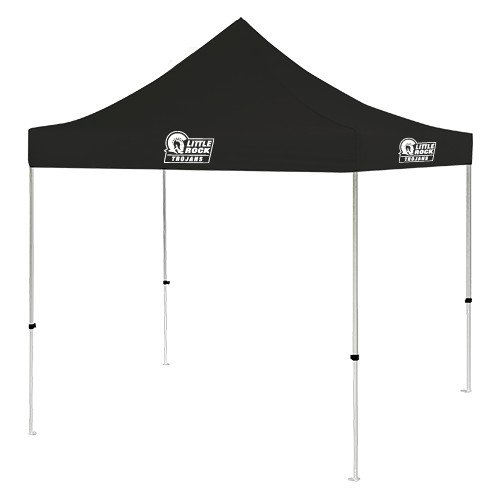 Arkansas Little Rock 9 ft x 9 ft Black Tent 'Little Rock Trojans - Official Mark' by CollegeFanGear