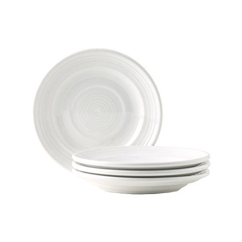 """Tuxton Home Concentrix Side Plate (Set of 4), 6 1/4"""", White; Heavy Duty; Chip Resistant; Lead and Cadmium Free; Freezer to Oven Safe up to 500F"""
