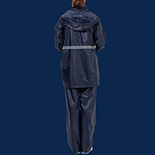 Grande Raincoat Mujeres Elegantes Color Battercake Respirable D Impermeable Lluvia Moda Outdoor Dos Talla Encapuchado Casuales Pantalon Abrigos Poncho Sólido Chubasquero Adulto Piezas Anchas nqwz6EFY1w