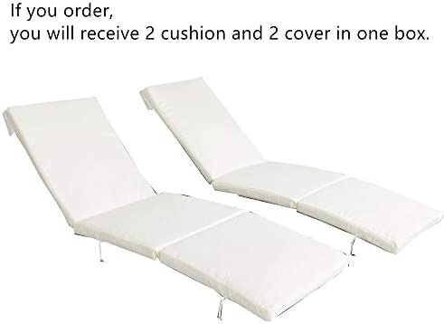 2Pcs Beige Cushion and Cover of Only Jetime Armless and Armed Lounge Chair