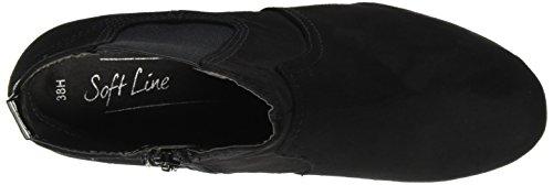 25373 black Stivali Donna Chelsea Softline Nero 7B60Hw6q