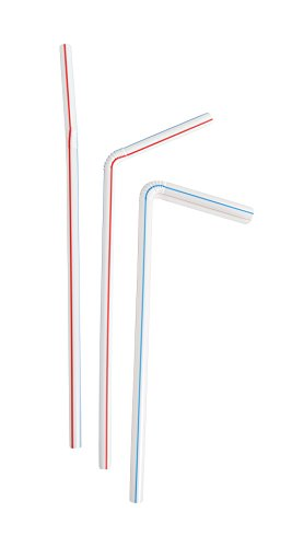 Evriholder Flexi-Strawz Disposable Straws for Drinking, F...