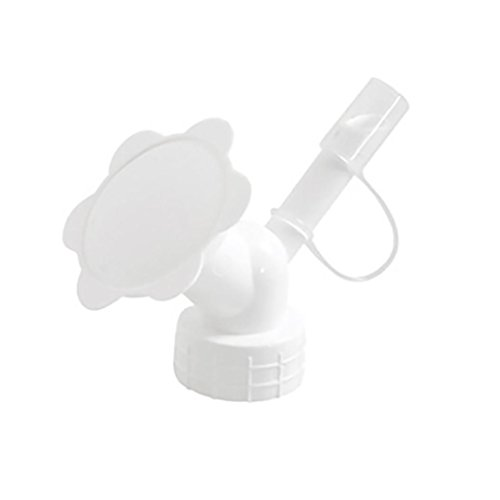 Highpot Dual Head Bottle Watering Spout, Mini Hand Bottle Watering Spout, Bonsai Watering Can Sprinkler Garden Tools (White)