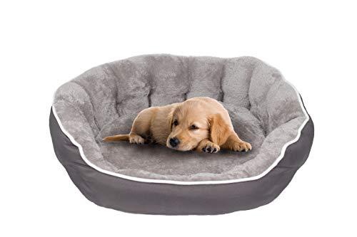 Sogni e capricci Cama para mascotascoccole para perros y gatos, gris, 48x42x16cm