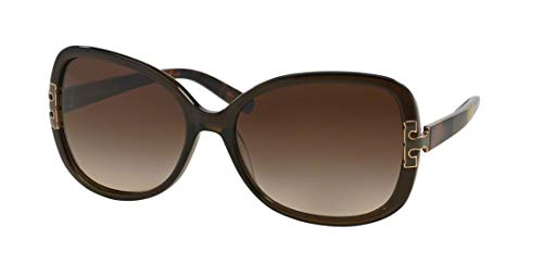 Tory Burch Sunglasses - TY7022 / Frame: Olive Block Lens: Brown Gradient (Tory Burch Sun Glass Case)