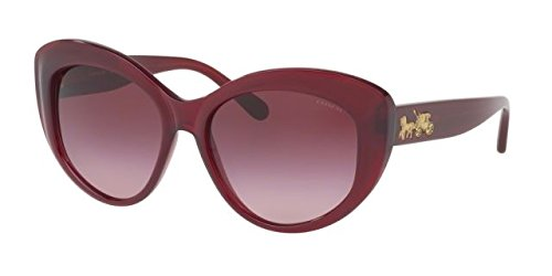 COACH Women's 0HC8206 55mm Aubergine/Burgundy Gradient Sunglasses (Contact Case Lens Coach)