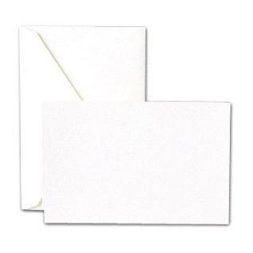 (Crane & Co. Pearl White Correspondence Cards & Envelopes)