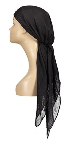 p Scarf - Black - 100% Viscose - by ()