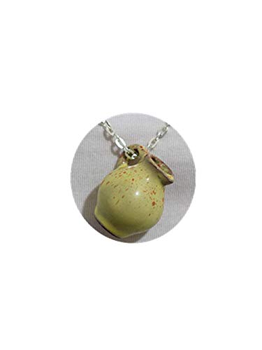 - LVLUOYE Vase Charming Necklace Vintage Jewelry Handicraft Ceramic Vase Pottery Porcelain Miniature Silver Chain.