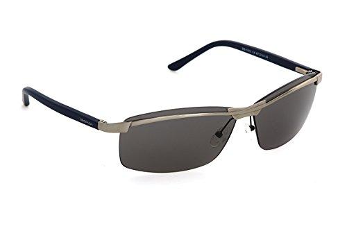 Wrap Sunglasses for Men, By DESPADA Made In Italy Metal Frame UV 400 Protection Eye wear DS 1513c4 (Gun Metal, - Eye Wear Men