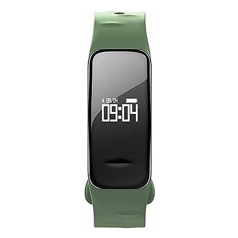 Atlanta - Rastreador de Fitness con frecuencia Cardíaca GPS Pulsómetro Tensiómetro de Oxígeno Smart Watch Reloj de Pulsera Verde 9700 Incluye Poly Cera ...