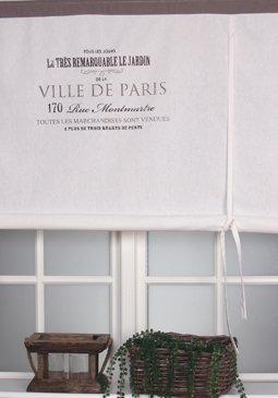 Ville de Paris Blanc cassé Rideaux Voilage Rideau store bateau ...