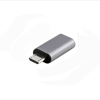 Interesting® Tipo C hembra a macho datos Sync Cargador Cables adaptador convertidor de Micro USB