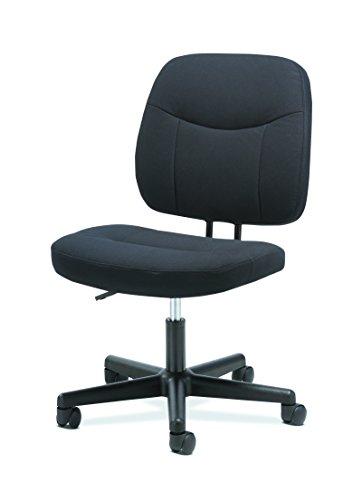 Pneumatic Swivel Series Seat Adjustment (HON Sadie Task Chair-Computer Chair for Office Desk, Black (HVST401))