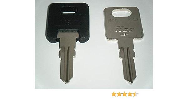 Amazon Com Hf311 Rv Keys Ilco Rv Motorhome Trailer Keys 1 Black Top 1 Metal Cut To Hf311 Working Keys Travel Trailer Motor Home Toy Hauler Keys Replacement Keys Fic Automotive