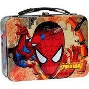 (amscan Children's Spider-Man Mini Lunch Box, Red/Blue)