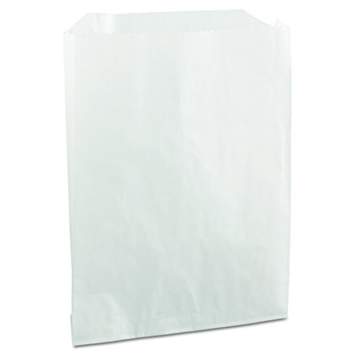 Bagcraft 450019 PB19 Grease-Resistant Sandwich/Pastry Bags, 6 x 3/4 x 7 1/4, White (Case of - Wax Sandwich