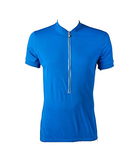 (TALL MAN'S Cycling Jersey Bicycle Biking Shirt XLARGE BLUE)