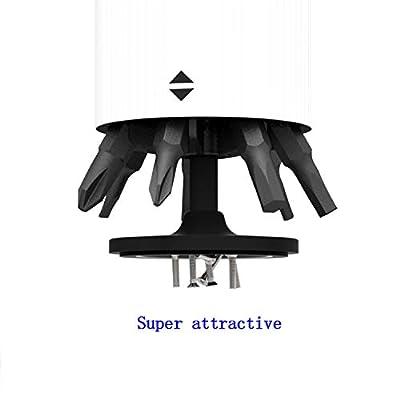 1pc Screwdriver Portable Wowcase Mini Screwdriver Bits Head Storage Box Holder Base Tray