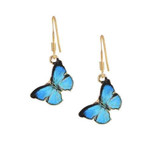 Enamel Butterfly Earrings - 6