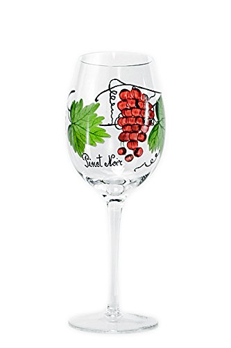 Set Of Four (4) - Romanian Crystal Barware - Dionysus God Of Wine Design - 17 Oz Pinot Noir Wine Glasses