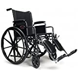 "Everest & Jennings 3H010150 Advantage Wheelchair, Detachable Full Arm, Elevating Legrest, 18"" x 16"""