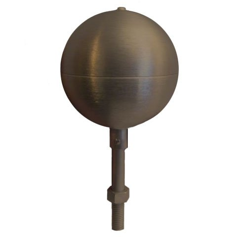 Eder Flag Flagpole ball top ornament 4 Inch Aluminum Anodized Bronze 313