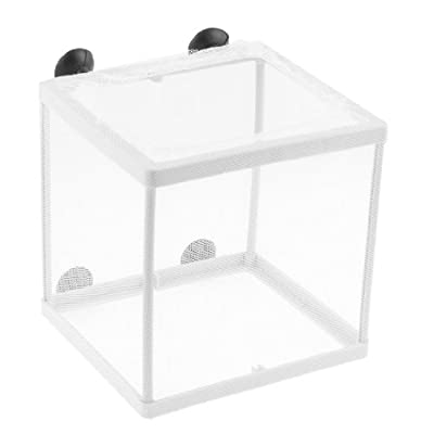 Uxcell Plastic Auarium Net Fry Hatchery Breeder, White by Uxcell