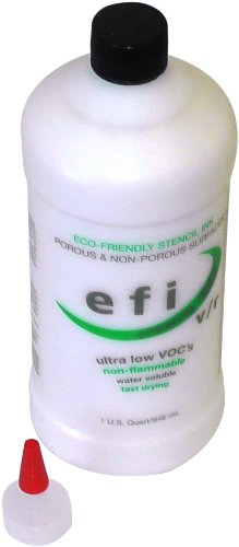 MARSH EFI Stencil Ink, 1 qt Bottle, White by Marsh