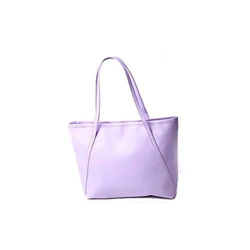 Fairysan Ladies Fashion Designer Trendy Solid Leather Large Portable Tote Shopper Top-handle Handbags Colocasia