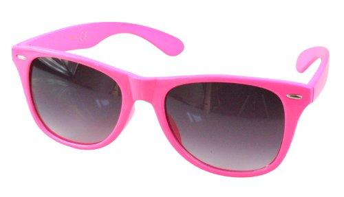 Wayfarer differentes monture couleurs 80's Lunettes style Neon de Pink retro soleil t0xqw7UA